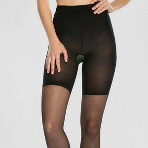 Spanx Assets 5 Black Shaping Sheers Pantyhose E513